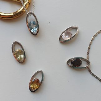 Crystal Faceted Pendants
