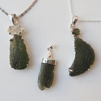 Natural Moldavite Pendants